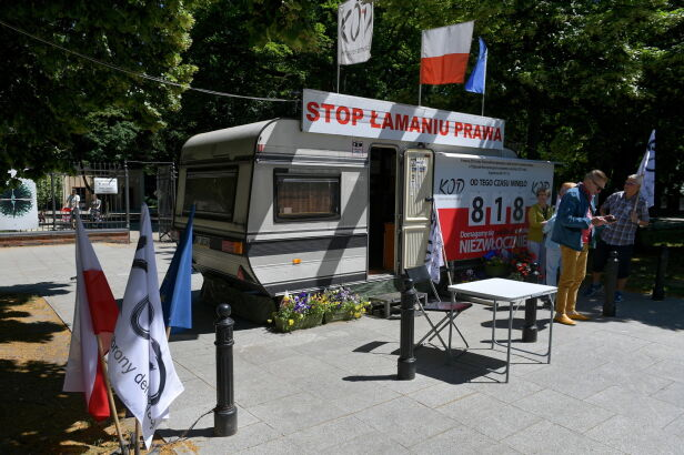 Koniec protestu przed KPRM Marcin Obara / PAP