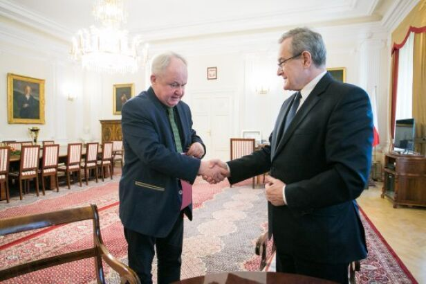 Przemysław Mrozowski i Piotr Gliński Fot. Danuta Matloch/MKiDN