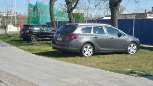W trakcie maratonu trawnik stał się parkingiem