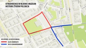 Zakazy parkowania, zamknięte ulice. Otwierają Muzeum Historii Żydów