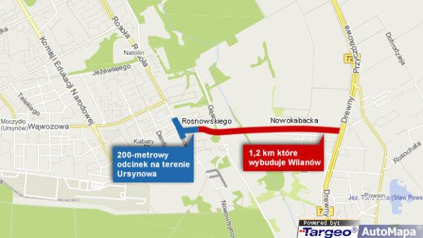 Jak Nowokabacka połączy dwie dzielnice tvnwarszawa.pl