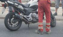 Motocyklista w szpitalu <br />po zderzeniu z autem
