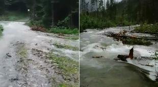 Trudne warunki w Tatrach (wideo z 20 lipca)